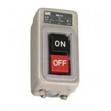 Выключатель кнопочный 2кн IEK ВКИ-211 3Р 6А 230/400В IP40 (10)