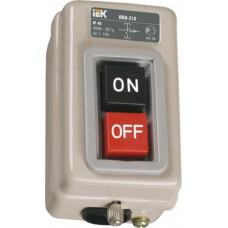 Выключатель кнопочный 2кн IEK ВКИ-216 3Р 10А 230/400В IP40 (10)