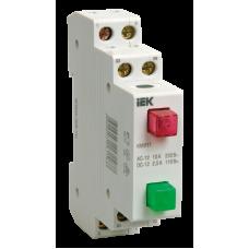 Выключатель кнопочный 2кн модульный IEK КМУ 11 (12)