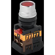 Кнопка IEK ABLF-22 1з+1p 240В подсветка красный (10)