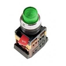 Кнопка IEK ABLFP-22 1з+1p 220В подсветка зелёный (10)