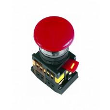 Кнопка IEK AEА-22 Гриб 1з+1p 220В красный (10)