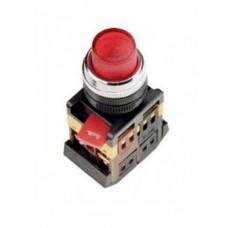 Кнопка IEK ABLFP-22 1з+1p 220В подсветка красный (10)