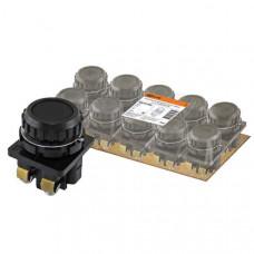 Выключатель кнопочный 1кн TDM КЕ 011-У2-исп.4 1з фиксируемая 10A 660B IP40 чёрный (10)
