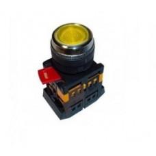 Кнопка IEK ABLFS-22 1з+1p 220В подсветка жёлтый (10)