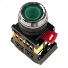 Кнопка IEK ABLFS-22 1з+1p 220В подсветка зелёный (10)