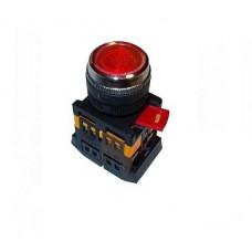 Кнопка IEK ABLFS-22 1з+1p 220В подсветка красный (10)