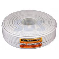 Кабель RG-6U 75 Ом CCS/Al/Al 32% Proconnect Light белый (100/600)