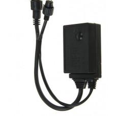 Контроллер уличный 24В УМС до 1000Led, 2жилы, 8 режимов, для Занавес, Бахрома, Гирлянда-нить, Сетка, темная нить на 24В