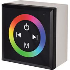 Контроллер RGB 12-24В 12А 144-288Вт Ecola чёрный настенный установ коробка