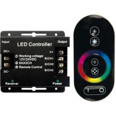 Контроллер RGB 12-24В 18А 216-432Вт Ecola RF18А пульт ДУ чёрный