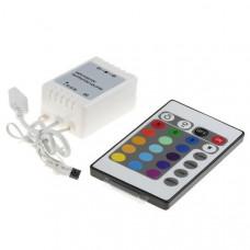 Контроллер RGB 12-24В 2А 24-48Вт IP20 63x35x22мм Horoz пульт ДУ (88)