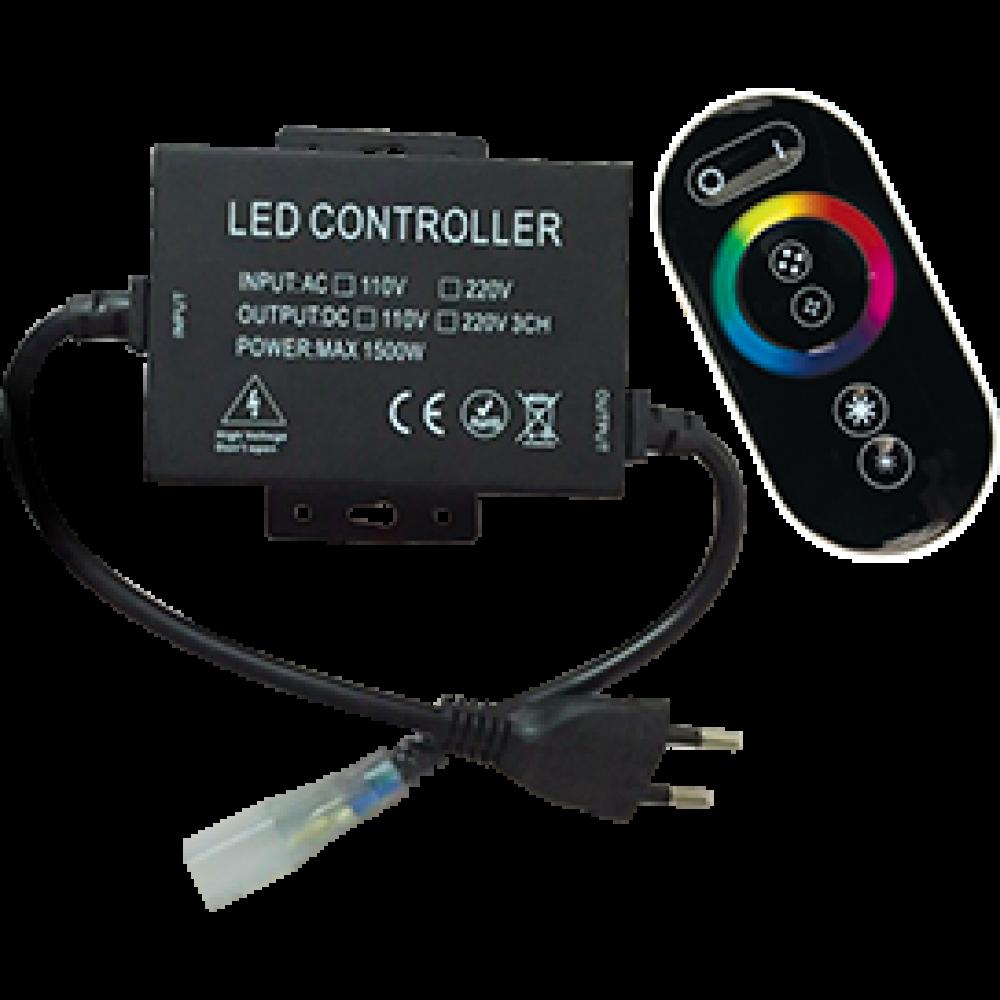 Контроллер RGB 220В 6.6А 1500Вт IP20 Ecola RF 16x8 пульт ДУ чёрный