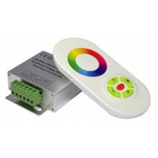 Контроллер RGB 12-24В 18А 216-432Вт IP20 85x65x24мм SWG пульт ДУ (20)