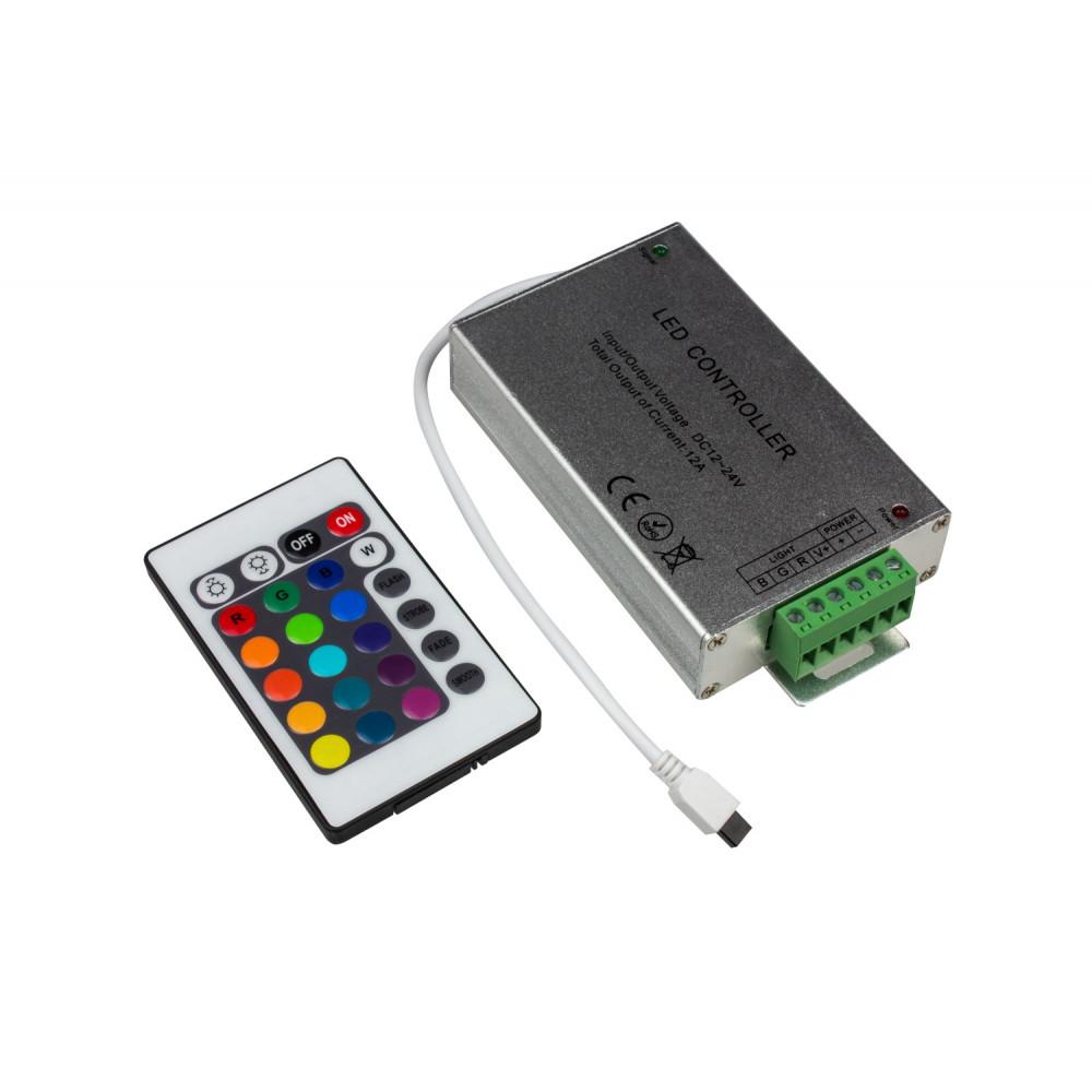 Контроллер RGB 12В 12А 144Вт InHome пульт ДУ (100)