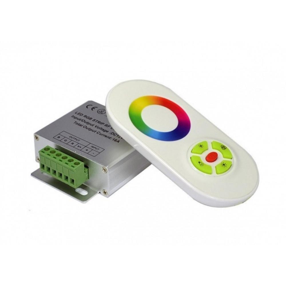 Контроллер RGB 12В 18A 216Вт IP20 Smartbuy пульт ДУ (50)