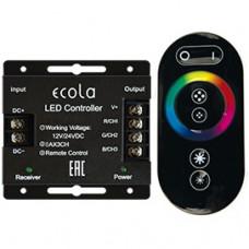Контроллер RGB 12-24В 24А 288-576Вт Ecola RF24А пульт ДУ чёрный