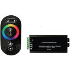 Контроллер RGB 12-24В 24А 288-576Вт IP20 SWG пульт ДУ чёрный (50)