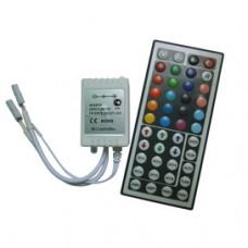 Контроллер RGB 12-24В 12А 144-288Вт Ecola IR пульт ДУ большой