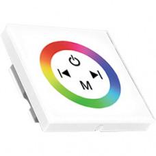 Контроллер RGB 12-24В 12А 144-288Вт Ecola белый настенный установ коробка
