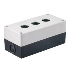 Kорпус TDM КП103 для кнопок 3места белый (1)