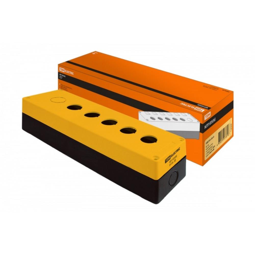 Kорпус TDM КП105(6) для кнопок 5-6мест желтый (1)