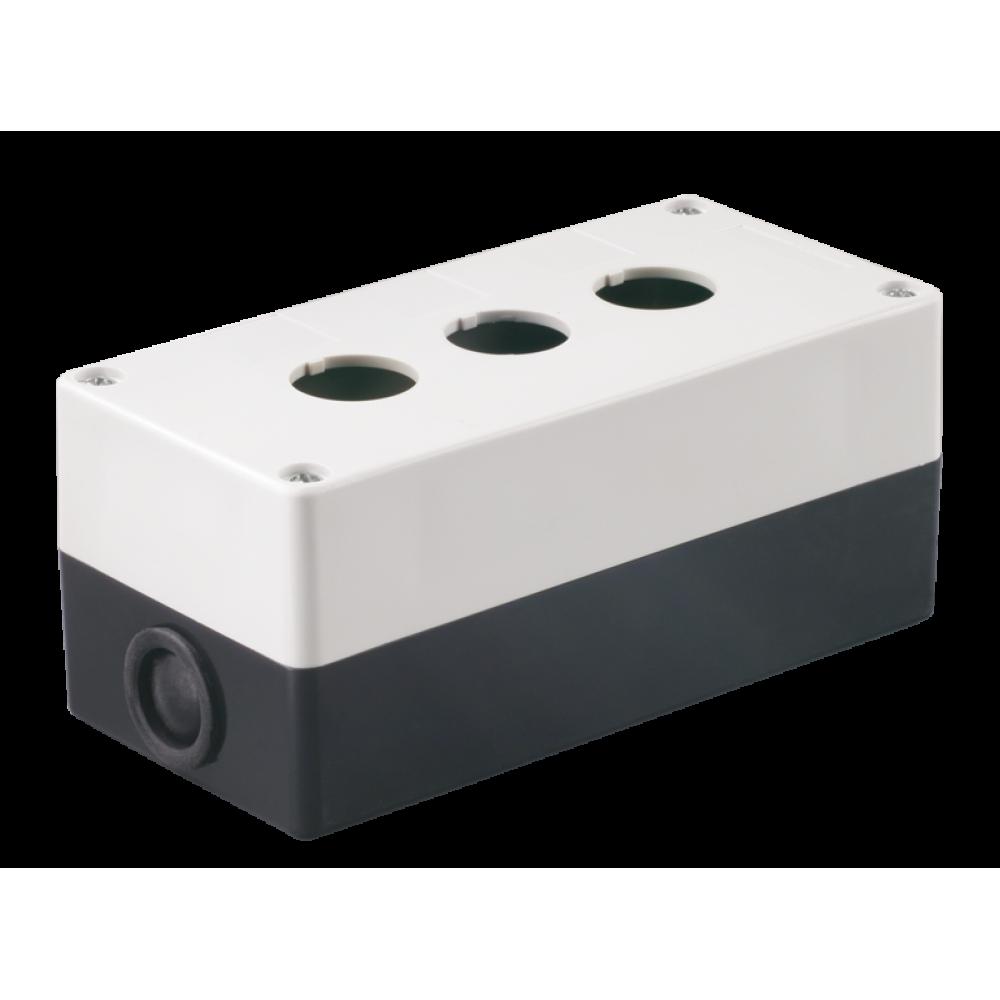 Kорпус IEK КП103 для кнопок 3место белый (10)