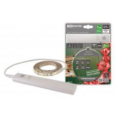 Лента диодная 12В IP20 2.4Вт/м 6000К 2835 30LED/м 1м TDM комплект датчик движения 4хR3 (45)
