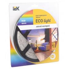 Лента диодная 12В IP20 7.2Вт/м RGB 5050 30LED/м 5м IEK (20)