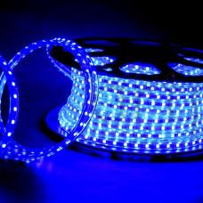 Лента диодная 220В IP68 14.4Вт/м синий 5050 60LED/м SWG (50)