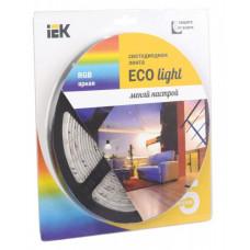 Лента диодная 12В IP65 4.8Вт/м RGB 3528 54LED/м 5м IEK (5)