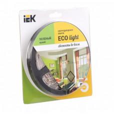 Лента диодная 12В IP20 4.8Вт/м зелёный 3528 60LED/м 5м IEK (5)