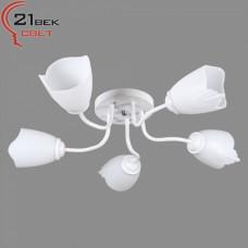 1001/5 WT (4) Светильник бытовой потолочный (лампочка 220V 15W E27)