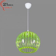 0336/1зеленый (5) Светильник бытовой потолочный (220V 15W E27)
