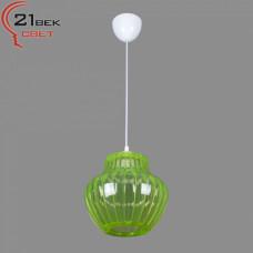 0335/1зеленый (5) Светильник бытовой потолочный (220V 15W E27)