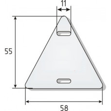 Бирка У-136 (треугольник) (100шт) (60)
