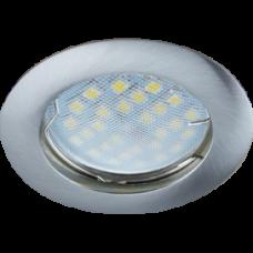 Светильник точечный MR16 GU5.3 сатин-хром Ecola DL100 24x75мм (10/100)