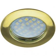 Светильник точечный MR16 GU5.3 золото Ecola DL100 24x75мм (10/100)