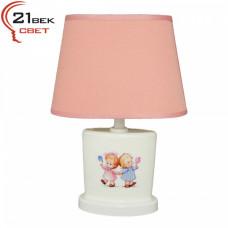 00030 Розовый (24) (1) Светильник настольный с абажуром (220V 15W E14)
