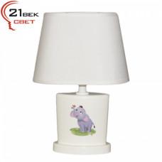 00030 Белый (24) (1) Светильник настольный с абажуром (220V 15W E14)