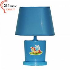 00030 Голубой (24) (1) Светильник настольный с абажуром (220V 15W E14)