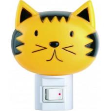 Ночник 220В Camelion NL-003 Кошка 7Вт выключатель (24/72)