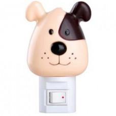 Ночник 220В Camelion NL-004 Собака 7Вт выключатель (24/72)