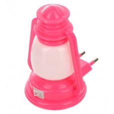Ночник 220В Camelion NL-170 Фонарик розовый 5LED (24)