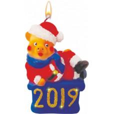 Свеча сувенирная Символ года Мистер 2019 10см (18)