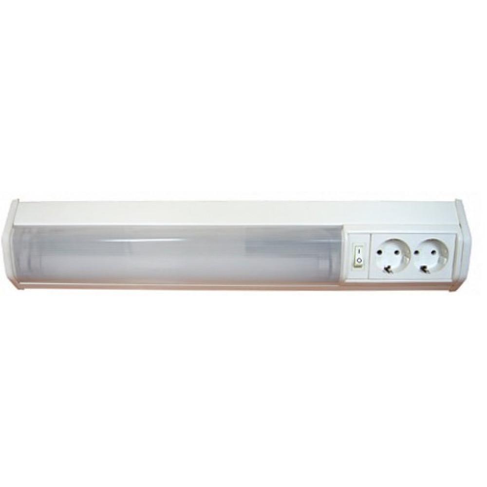 !Светильник линейный люминесцентный Т8 30Вт IP20 1063мм 2розет выключатель Camelion WL-3021 угловой (12)
