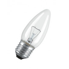 Лампа накаливания свеча прозрачная 60Вт Е27 Osram (100)