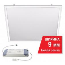 Панель встраиваемая 40Вт 6500К 595x595x9 IP20 3200Лм сер опал Без ЭПРА Wolta LPC (6)