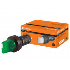 Переключатель TDM SB7-CK2365 I-O 1з+1р зеленый (10)