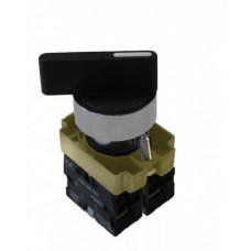 Переключатель TDM BJ33 I-O-II 1з+1р черный (10)